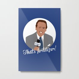 Vin Scully Metal Print