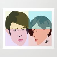 tegan and sara Art Prints featuring TEGAN AND SARA  by NURUL A.