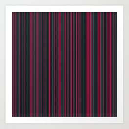 Pink Grey Candy Lines Art Print