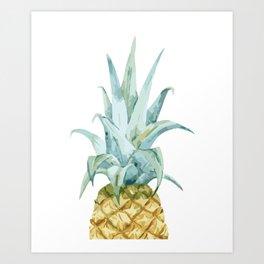 Pineapple Topper Art Print