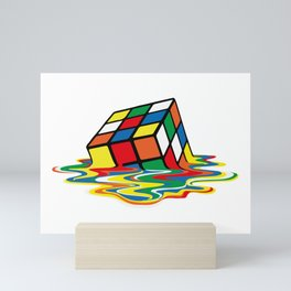 Rubik Cube Melted Original Artwork for Prints Posters Tshirts Mini Art Print