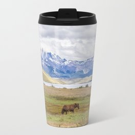 Torres del Paine - Wild Horses Travel Mug