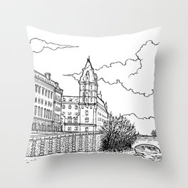 Quai des Orfèvres, Paris Throw Pillow