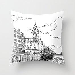 Quai des Orfèvres, Paris Throw Pillow