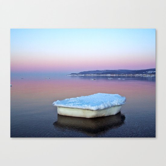 Ice Raft on the Sea Canvas Print