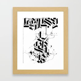 CALLIGRAPHY N°6 ZV Framed Art Print