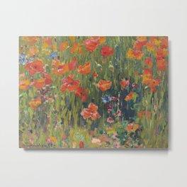 Robert Vonnoh - Poppies Metal Print