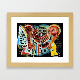 You are here with me street art graffiti Framed Art Print