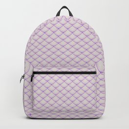 Fish Scale Pattern Backpack