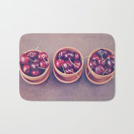 Cherries in Terra Cotta Pots Bath Mat
