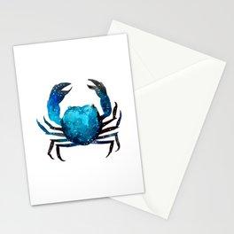 Cerulean blue Crustacean Stationery Cards