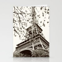 eiffel tower Stationery Cards featuring Eiffel Tower by Linde Townsend