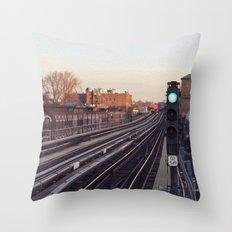 Take The 'A' Train Throw Pillow