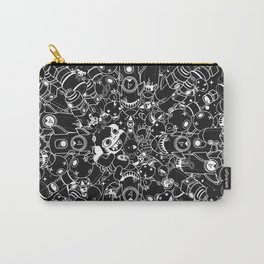 For Good For Evil - Black on White Carry-All Pouch