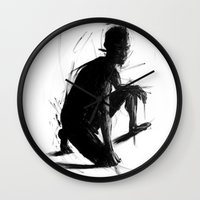 knight Wall Clocks featuring Knight by t-edition