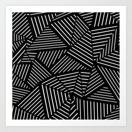 Ab Linear Zoom Black Art Print