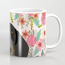 Dachshund floral dog head cute doxie must have pure breed weener dog gifts Coffee Mug