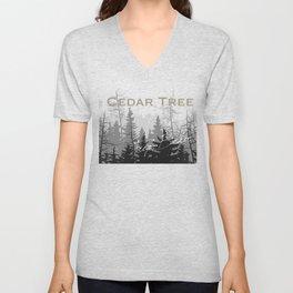 Cedar Tree  Unisex V-Neck