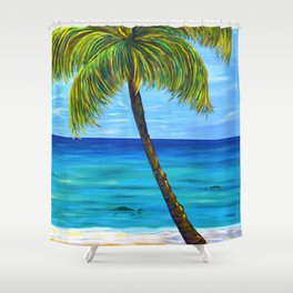 Maui Beach Day Shower Curtain