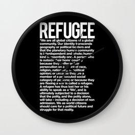 Refugee Wall Clock