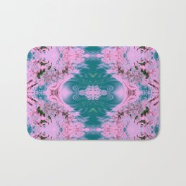 Japanese Water Gardens Fractal Abstract Bath Mat