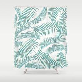 Palm Leaf Pattern Island Paradise Shower Curtain
