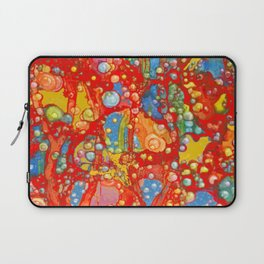Bubbles Rising in Red Laptop Sleeve