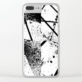 black abstract paint Clear iPhone Case