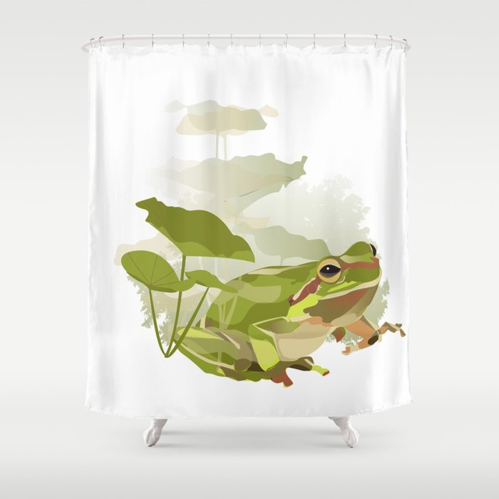 Frog Shower Curtain By Pureefantastico
