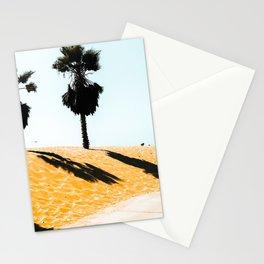 palm tree and summer sandy beach at Oxnard Beach, California, USA Stationery Cards