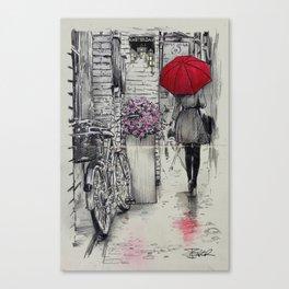amsterdam walk Canvas Print