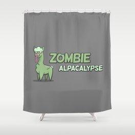 Zombie Alpacalypse Shower Curtain