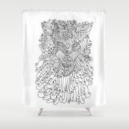 The Way of Wolf Shower Curtain