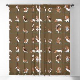 Beagle Yoga Blackout Curtain