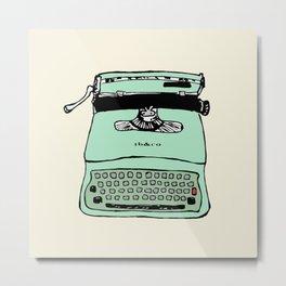 Lettera 22 typewriter fifties style 1950 - 50s style - Olivetti facsimile Metal Print