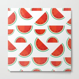 Watermelons on white Metal Print