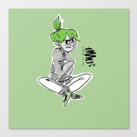 bianca green Canvas Prints featuring green by Art of Bianca