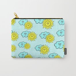Cute baby design in blue Carry-All Pouch