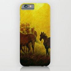 Horses at sunset iPhone 6s Slim Case