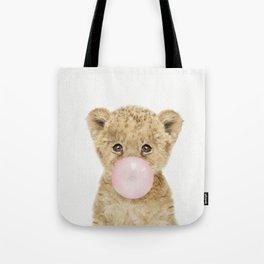 Bubble Gum Lion Cub Tote Bag