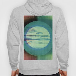 Midsummer Moon - Green Mid Century Modern Watercolor Hoody