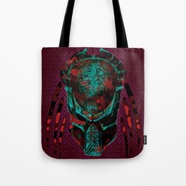 Soldier Predator Red Teal Tote Bag