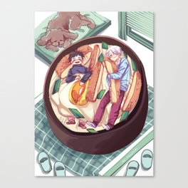 katsudon bed / yuri on ice! Canvas Print
