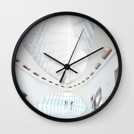 Milwaukee Art Museum by Santiago Calatrava Interior Architecture Photography Art Print Wall Clock