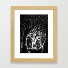 There's Something Glowing Framed Art Print