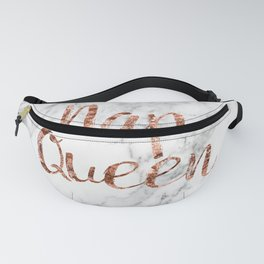 Nap queen - rose gold on marble Fanny Pack