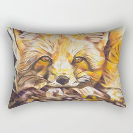 Cozy Fleece Fox Rectangular Pillow