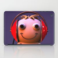 headphones iPad Cases featuring Headphones by Aguinaldo Goncalves