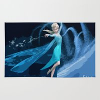 frozen elsa Area & Throw Rugs featuring Elsa | Frozen by EcaJT