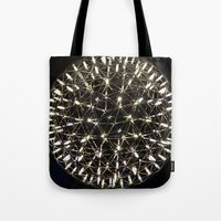 chandelier Tote Bags featuring Chandelier by waggytailspetportraits